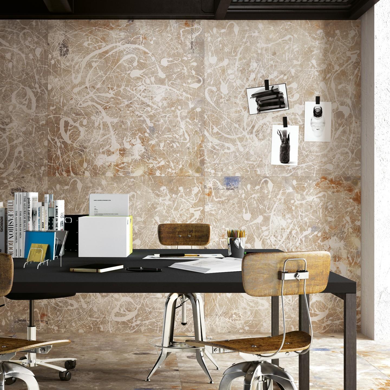 Action paint dark white fondovalle mesvetements for Designer fliesen